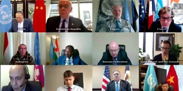 نشست آنلاین شورای امنیت در خصوص تحریم تسلیحاتی ایران
