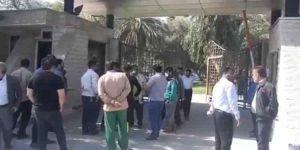 تجمع اعتراضی کارگران شهرداری بندرخمینی
