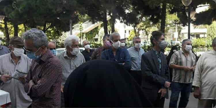 تجمع بازنشستگان تامین اجتماعی در مشهد
