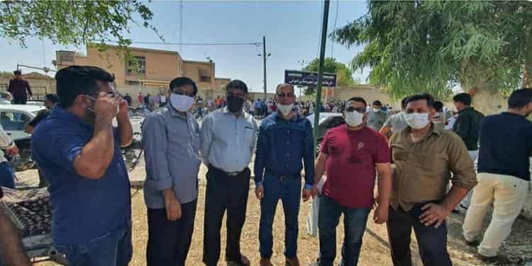 ۵۵مین روز اعتصاب کارگران مقاوم شرکت نیشکر هفت تپه برغم گسیل نیروی پلیس