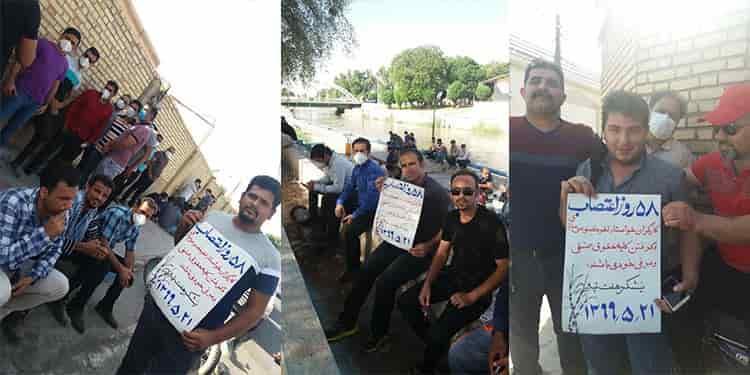 ۵۸مین روزاعتصاب کارگران مقاوم نیشکر هفتتپه برگزار شد