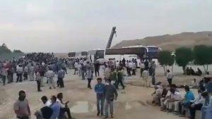 سومین روز اعتصاب کارگران پتروشیمیهای کنگان، پارسیان، سپهر لامرد ,شرکت آتروپارت در جفیر خوزستان