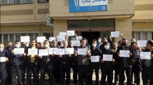 اعتصاب کارگران شرکت هپکوی اراک با شعار «کرونا بهانهست، تعطیلی هدف است»