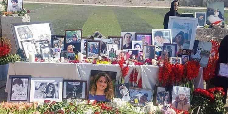 گرامیداشت یاد جانباختگان هواپیمای اوکراینی درمحل سقوط هواپیما
