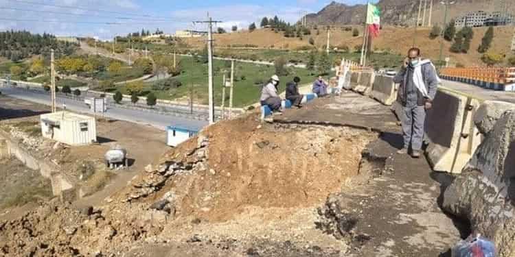پلی که سپاه پاسداران ساخت یکسال دوام نیاورد