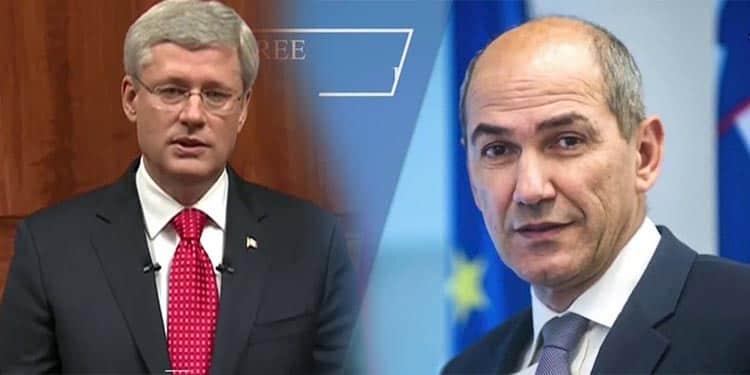 شرکت نخست وزیر کنونی اسلوونی و نخست وزیر سابق کانادا در گردهمایی مقاومت